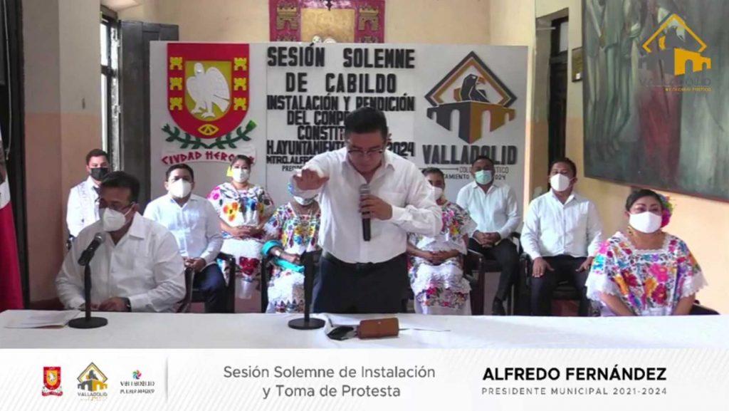 toma de protesta Alfredo Fernández