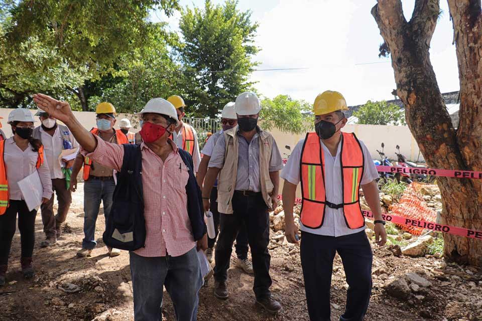 visita Alfredo Fernández Obras en Ejecución